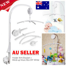 Baby Crib Mobile Bed Bell Arm Holder + Wind-up Music Box DIY Toy Christmas Gift