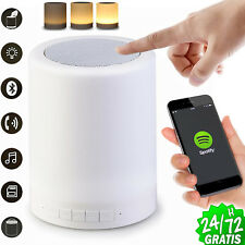 ALTAVOZ LAMPARA RECARGABLE LUMINOSO BLUETOOTH Portatil Luz Tactil Musica USB SD