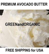 1/4Lb Premium Organic AVOCADO BUTTER 100%Pure RAW Fresh Natural Cold Pressed 4oz