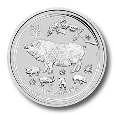 Silbermünze Lunar II Schwein 1/2Oz  0,5 Unze 2019 Silber Perth Mint silver PIG
