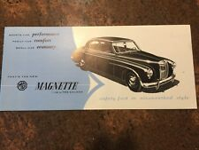 Vintage 1956 MG Magnette Brochure