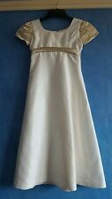 Custom made girls cream silk bridesmaid dress age 5 - 6 years approx