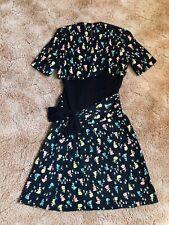 1940s novelty print dress