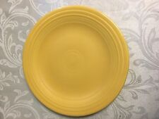 "Early Fiesta Ware Vintage Yellow Plate - 10""  Dinner Plate HLC Fiesta"