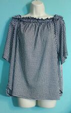 ELLE women's B/W small checkered top size (XL) NWT