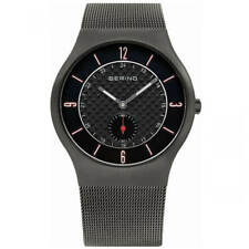 Bering 11940-377 Men's Classic Quartz Grey Mesh Bracelet Watch