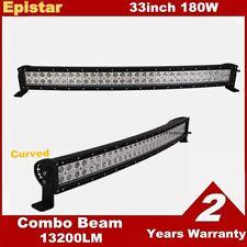 180W 33inch Curved LED Light Bar For Cars ATV Ford 4WD Truck Pickup SUV fog ligh