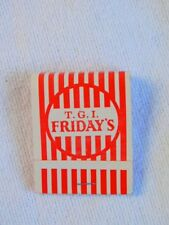 T.G.I. FRiday's Vintage Matchbook Restaurant Advertising Un-used x 2