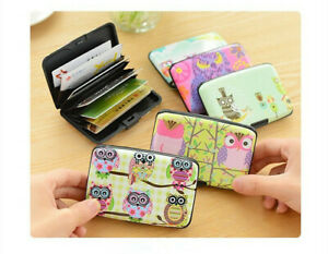 Card Box Bag Theft Proof Security Layers Women's Card Case Credit ID Card Holder