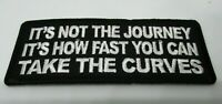 Biker Leather Vest Patch ITS NOT THE JOURNEY  iron on or sew on Harley Rider