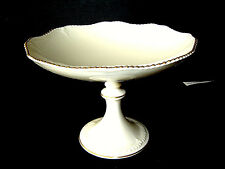 "Estate Lenox USA China 24K Gold Trim 8 1/2"" Wide Pedestal Footed Fruit Bowl."