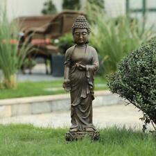Gray MgO Enlightened Standing Buddha Garden Statue