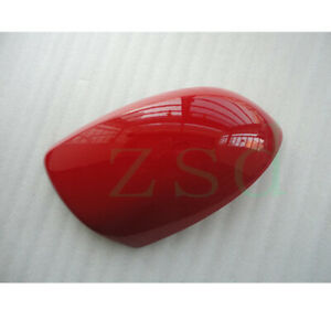 1x For Mazda 2 2007-2013 Front Right Rearview Mirror Cover Red Frame No Signal
