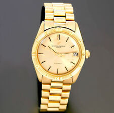 RARE 18K GOLD VACHERON CONSTANTIN TURN-O-GRAPH WATCH | 20 JEWEL AUTOMATIC WIND
