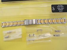 """STULLER 2 Tone Oyster Ladies Diver Watch Band,12mm/14mm, 6 1/2"""".."""