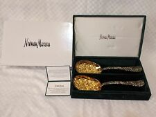 BEAUTIFUL Nieman Marcus Godinger Silver with Gold Wash Serving Spoons