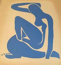 Henri Matisse Blue Nude Vintage 1952 print lithograph silkscreen modernist