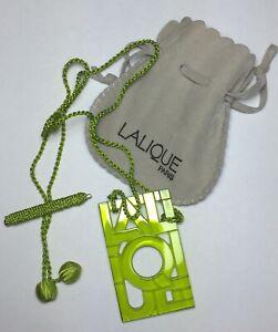 Lalique Green Crystal Necklace