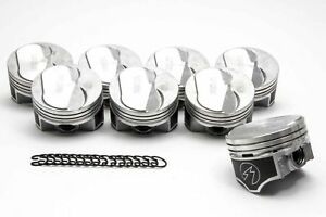 Chevy 454 Speed Pro Hypereutectic Coated 10cc Dome Pistons+MOLY Rings Kit std