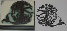 Mermaid in Waves rubber stamp by Amazing Arts