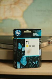 GENUINE HP 11 YELLOW Ink Cartridge C4838A Factory Sealed 2012