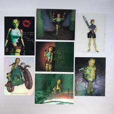 TOMB RAIDER 2 (Comic Images/1997) JUMBO CLEAR-CHROME Card Set of 7 ~ LARA CROFT