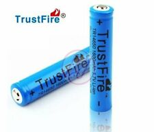 Trustfire 14650 1600mAh Rechargeable Li-ion 3.7v Button Top Protected Battery x2