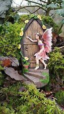 Garden Ornament Fairy Door Secret Magical Pixie Elf Figurine Decor Mushrooms