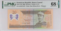 Dominican Republic 20 Pesos 2009 P 182 Superb GEM UNC PMG 68 EPQ High