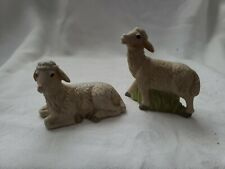 Vintage Sheep Matching Porcelain Retro Collectible Pair Figurine