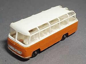 Professional Restoration: Matchbox No68 Mercedes Coach Orange / White