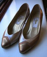 Ladies Renata Heels - Gold, Nude Tan & Bronze Snake Skin Size UK4 & Matching Clu