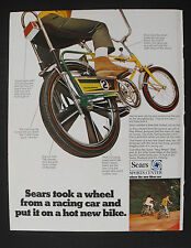 1969 Sears Screamer 2 Bicycle Drag Racer 5 Speed Green & Yellow Boys Bike AD