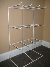 White Wire Countertop-Wall Rack Display-Vinyl Coated-12 Hook (jewery-candy exc)