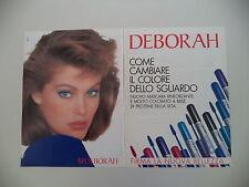 advertising Pubblicità 1987 DEBORAH MASCARA