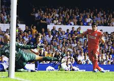 Liverpool legenda LUIS SUAREZ firmato 16 x 12 obiettivo contro Everton Stampa