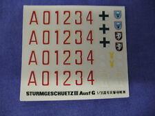 Vintage Tamiya Sturmgeschuetz 3 Ausf G Model Aircraft Decals
