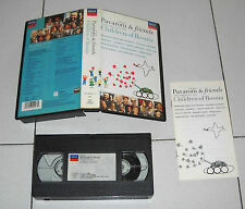 Vhs Luciano PAVAROTTI & FRIENDS Togheter for the Children of Bosnia 1996