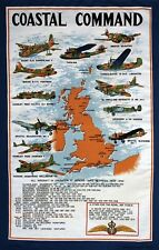 Stow Green RAF Coastal Command Cotton Tea Towel Kitchen Baking 74 x 46cm