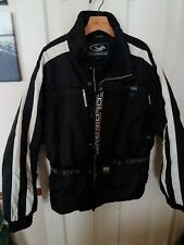 Coldwave black white snowmobile racing jacket 2XL excellent condition