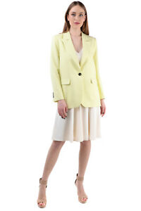 TOPSHOP Crepe Blazer Jacket Size UK 8 / S Padded Shoulders Peak Lapel Collar