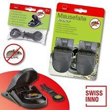 1 x 2 Stück Swissinno SuperCat Mausefalle + 1 x 6 Stück Ersatzköder