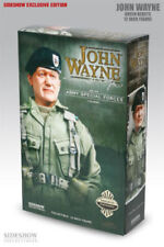 SIDESHOW JOHN WAYNE EXCLUSIVE GREEN BERETS FIGURE STATUE BUST ARMY COLONEL VET