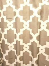 Geometric Shower Curtain Gray White With Curtain Rings