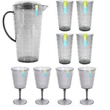 More details for summer bbq garden drinks set tumblers wine goblets pitcher outdoor party