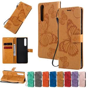 Butterfly Wallet Leather Flip Stand Case Cover For Sony L1 L2 L3 XA1 XA2 XZ3 10