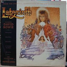 DAVID BOWIE 1986 Labyrinth TREVOR JONES RARE! Ost LP + Insert BRAZIL