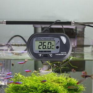 Aquarium Digital Thermometer Water Tank Fridge Freezer Reptile Fish Meter LCD