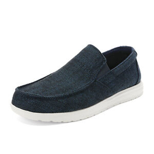 Bruno Marc Men's Lightweight Canvas Slip On Loafer Shoes Moccasins Walking Shoes
