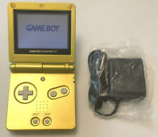 Nintendo Game Boy Advance SP AGS-001 Gold W/ Charger